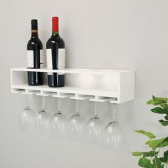 Shop a great selection of Siera 4 Bottle Wall Mounted Wine Bottle Glass Rack White Ebern Designs. Find new offer and Similar products for Siera 4 Bottle Wall Mounted Wine Bottle Glass Rack White Ebern Designs. Wine Rack Shelf, Wine Glass Shelf, Wine Shelves, Wine Rack Wall, Wine Glass Rack, Wine Storage, Glass Shelves, Wine Wall, Wine Bottle Glass Holder