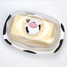 Joie Moo Moo Butter Dish 454 G / 1 Lb Black/White | Kitchen Stuff Plus $4.99 #KSPPin2Win