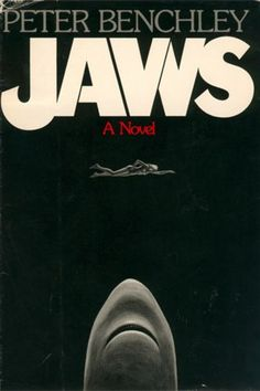 Four Jaws (1974) covers: the first US hardcover edition by Paul Bacon, the first US paperback edition by Roger Kastel (reused for the movie poster), the first UK edition, and the movie tie-in. Other titles considered were: The Stillness in the Water, and Leviathan. My personal favorite has always been the Dutch title (and not because I'm Dutch): The Summer of the White Shark.