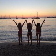 PLASTIK IBIZA - SAN ANTONIO Plastik girls enjoying San Antonio´s beautiful sunset @plastikibizaofficial Instagram photos | Websta