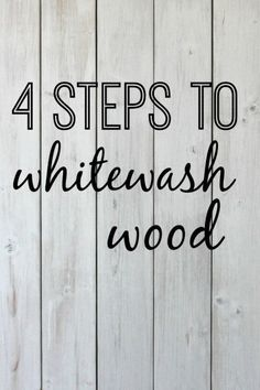 4 steps to whitewash wood | DIY tutorial for whitewashing a wooden pallet.  www.thedempsterlogbook.com