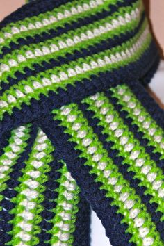 Seattle Seahawks Scarf for Julie by soronoz on Etsy