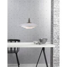 Modern white ceiling pendant, striking appearance, featuring four shades for a soft and even distribution of light. Perfect in kitchens. Cool Lighting, Modern Lighting, Lighting Design, Ceiling Pendant, Pendant Lighting, Ceiling Lights, Modern Ceiling, White Ceiling, Nordic Living
