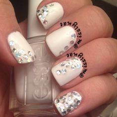 glitter placement with @OPI Products i snow you love me, by @Mariah Carey....done by IG @Melissa Greenhill