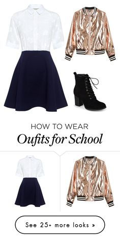 """""""Rose Gold School Girl"""" by mugglebornprincess on Polyvore featuring Paul & Joe Sister, Journee Collection and Sans Souci"""