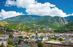 Wonderfully peaceful Andorra, Andorra Andorra is Europe's sixth smallest country and is tucked between France and Spain. Ski hills, hiking trails, excellent low-tax shopping and lovely mountain scenery make a magical atmosphere a mere 3 hour-drive from Barcelona or Toulouse.