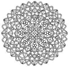 Mandala 704, Creative Haven Kaleidoscope Designs Coloring Book, Dover Publications