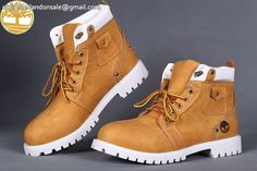 Custom Limited Release 6 Inch Wheat-Black Men Timberland Boots $90.99