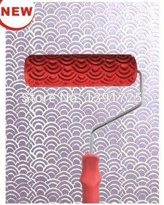 Livraison gratuite outil peinture peinture décorative rouleau pour la décoration mur 7 polegada liquide papier peint à motifs rouleau à peinture ( 320 T )