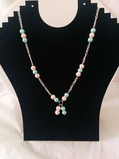 Pretty Pink & Blue Necklace £7.99