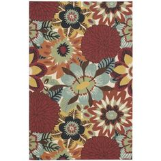 Fill your home with warm and vibrance using this stunning rug which features a multicolor floral pattern. The luxurious rug is crafted using a low .5 inch pile height that makes it easy to clean with excellent durability.