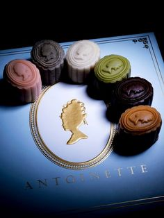 Mooncakes [Luxur (white lotus), Kyoto (green tea), Maple (maple lotus), Hiver (black sesame), Marron (chestnut) and Paris (dark chocolate)] | Antoinette