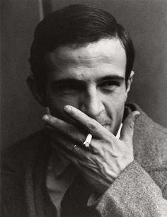François Truffaut (1932-1984), diretor francês de cinema, roteirista, produtor, ator e crítico de cinema. Um dos fundadores da Nouvelle Vague. Foto por Lewis Morley.