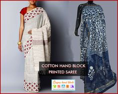 Cotton Hand Block Printed Saree  Buy designer #Cotton Hand Block #Printed #Saree with matching blouse for sale at bagruhandblock.com. At #Bagru #Hand #Block, you can buy block printed #saris online from the exclusive range. We offer worldwide free shipping on orders. For any queries email us to order@bagruhandblock.com