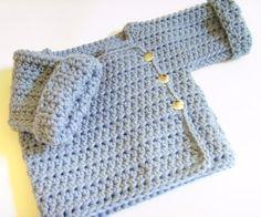 baby crochet sweater pattern by Marinaglin Baby Knitting Patterns, Baby Patterns, Crochet Patterns, Sweater Patterns, Crochet Baby Sweaters, Crochet Baby Clothes, Pull Crochet, Knit Crochet, Crochet Jacket Pattern