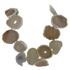 For Sale on - This is a one of a kind necklace. It is a sculptural statement necklace. The White Agate Natural Geods are x - The necklace is individually Gemstone Necklace, Beaded Necklace, White Agate, Agate Geode, Antique Jewelry, Sculpture, Gemstones, Contemporary, Personalized Items