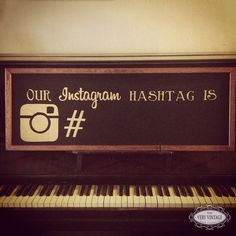Such a great idea! Come up with a unique hashtag so that all your guests can tag their photos so that you are able to see them later on! Bling Wedding, Wedding 2015, Wedding Wishes, Our Wedding, Dream Wedding, Instagram Hashtag, Instagram Wedding, Hashtag Wedding, Future Mrs