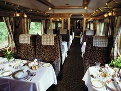 luxury dining on the Orient Express