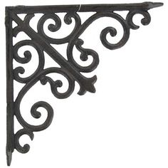 Use this Large Brown Cast Iron Bracket with Scrolls to create your own custom shelf! There's no better way to accent your existing home decor than by making your own shelf.    	     	Dimensions:    	  		Arm Length: 10""
