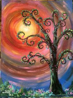 Whimsical Tree - painted by Becky Sirmans