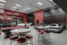 Automotoplex Luxurious Garage Interior Design : Perfectly Complete Your Classy Dream Home Living With These Highly Contemporary Custom Luxury Homes Garages Designs Ideas