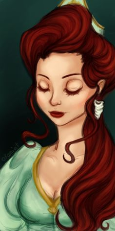 Disney Princess: Ariel. Art creative pretty little mermaid fanart fashion. #ForeverEileen