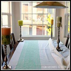 DIY Greek Key Fabric {with printable}