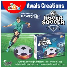 #Awals brings you the #ultimate #soccer experience with our #Super #Amazing #Hover #Soccer.....The only #soccer #ball that float like #magic ! #Safe to #play #indoors. Super Slide Technology. Won't bump, bang or scratch. #Toymanufacturers #Indianmanufacturers #Toys #Games #bulkorders #AwalsCreations