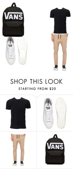 """Dang Daniel back at it again with the white vans"" by thatnerdygirl ❤ liked on Polyvore featuring Converse, Zanerobe, Vans, men's fashion and menswear"