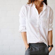 Белая льняная рубашка. Летний базовый гардероб.