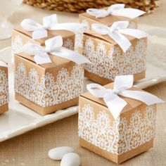 Baby shower favors - Rustic