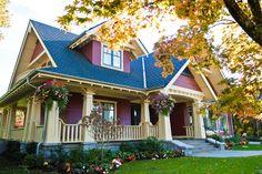 Super Ideas House Styles Exterior Craftsman Home Design Craftsman Bungalow Exterior, Bungalow Renovation, Bungalow Homes, Craftsman Style Homes, House Paint Exterior, Craftsman Bungalows, Craftsman House Plans, Exterior House Colors, Exterior Design