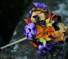 Origami bridal bouquet