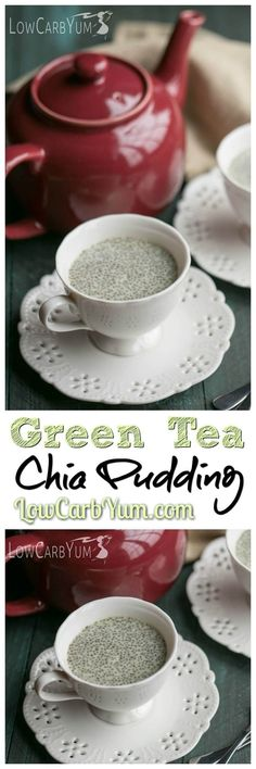 Matcha, green tea, and chia seeds have many known benefits. Get a health boost by eating this delicious low carb matcha green tea chia pudding. Whole30 Atkins Keto Dessert