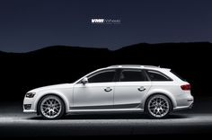 White Audi Allroad with VMR wheels