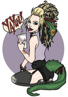 grav3yardgirl drawings | My favorite swamp queen ! @Katie Adams Koch
