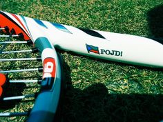 "Racquet of my favorite WTA player, Czech lefty Petra Kvitova. ""Pojd!"" is the Czech equivalent of Lleyton Hewitt's ""Come on!"""