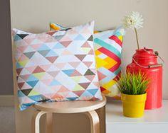 Hawaiian Triangles Cushion Cover