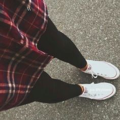 Plaid + chucks.