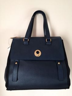 ea1ca0a129 YSL Saint Laurent Muse 2 Navy Blue Leather Tote Bag #YSLYvesSaintLaurent #TotesShoppers  Saint Laurent