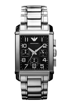 4a806656523 Emporio Armani AR0334 Gents Classic Chronograph Relógios De Luxo Masculinos