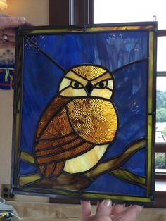Glass owl, student work. 2015