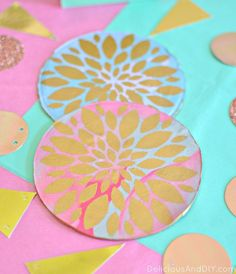 DIY CLAY FLOWER COASTER