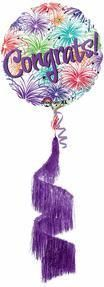 70'' Congrats Shag Coil Tail Airl Waker Foil Balloon