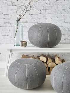 Everyone is falling for the wonderful textural appeal of our new felt pouf.