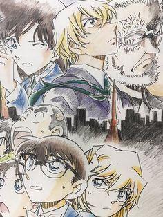 Detective conan Conan Movie, Detective Conan Wallpapers, Gosho Aoyama, Kaito Kid, Amuro Tooru, Anime Recommendations, Magic Kaito, Book Aesthetic, Fan Art