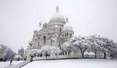 Le Sacré-Coeur, Montmartre, Paris (France).