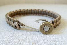 Fishhook Bullet Bracelet Paracord by ThePerfectHeist on Etsy