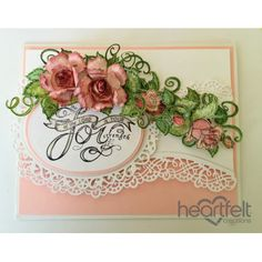 Heartfelt Creations - Joyful Pink Roses And Borders Project