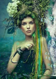Latest animation I made ? [Video] in 2020 Foto Fantasy, Dream Fantasy, Beautiful Fantasy Art, Beautiful Gif, Vintage Mermaid, Mermaid Art, Mermaid Paintings, Tattoo Mermaid, Beautiful Women Videos